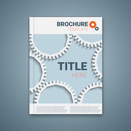 rackwheel: Vector  brochure template design with cogwheels. Illustration