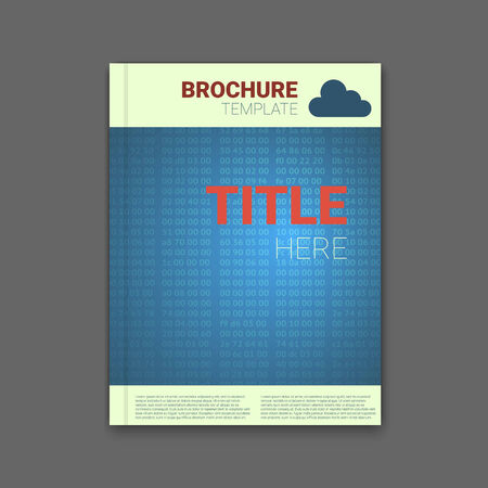 hex: brochure template with hex codes background