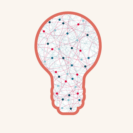 rounds: Creative light bulb with abstract rounds.  Illustration