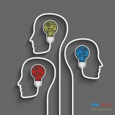 Human head creating a new idea.  Stock Illustratie