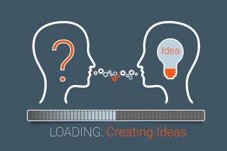 Creating idea process.  Vectores