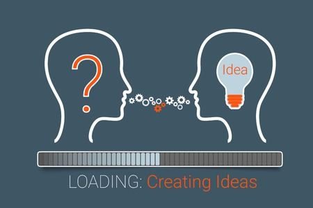 Creating idea process.  Иллюстрация