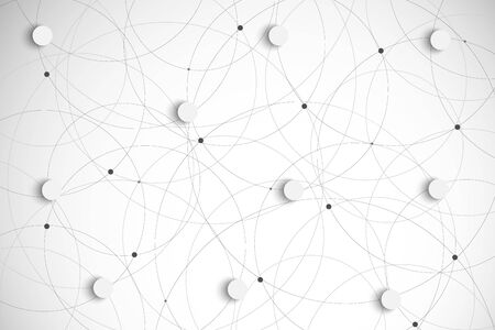 overlapping: Vector Abstract Background Overlapping circles.  Illustration