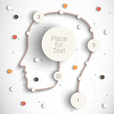 rounds: Head with creative rounds as a infographic template. Eps10 vector for your design