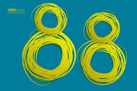 eps10 vector background: Hand drawn circles background, eight numbers,  Eps10 vector background for your design Illustration
