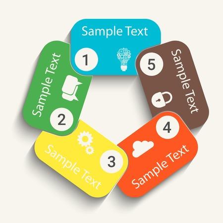instruction manual: Web design paper progress steps for.   Illustration