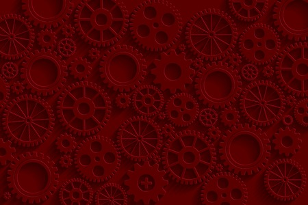 Creative red gears background.  vector for your design. Vector