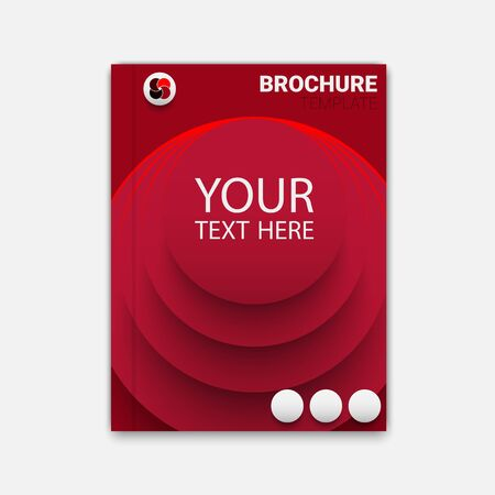 blend: Creative brichure template with blend circles.  vector for your design Illustration