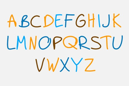 Hand drawn vector alphabet,  vector font for your design Vector