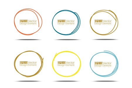Hand drawn circles set for your design,  vector