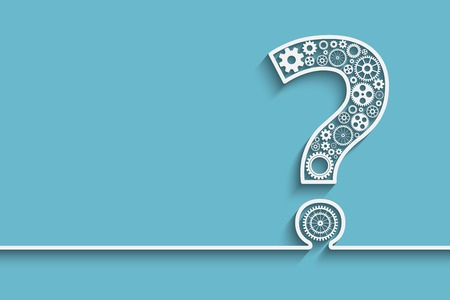 Creative Question mark with gears.  vector for your design
