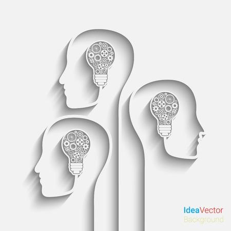 Menselijk hoofd het creëren van een nieuw idee. vector voor uw ontwerp Vector Illustratie