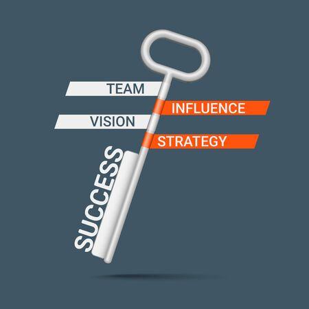 la union hace la fuerza: Clave creativa con palabras como un concepto de negocio. Eps10 vector para su diseño