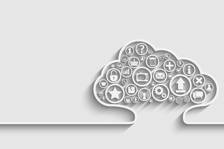 Creative of cloud with apps.