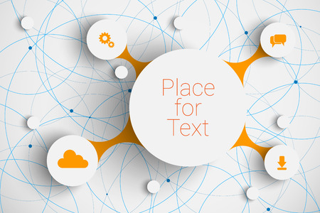 abstract  infographic network template with place for your content