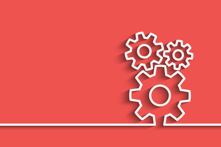 gears on a creative background for your design