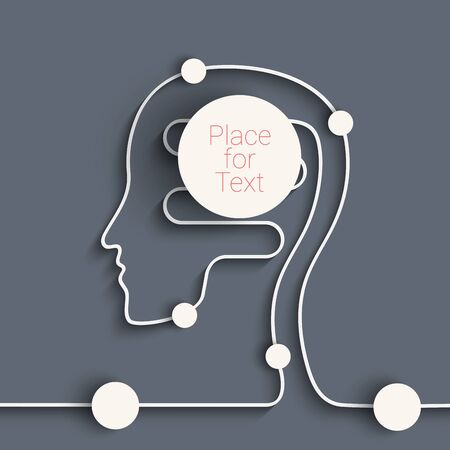 event marketing: Planning concept flat design icons illustration with stylized human head. Eps10 vector for your design