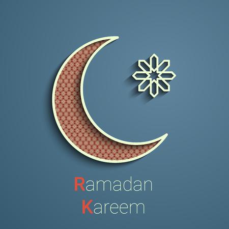 illuminated: Ramadan greetings background.