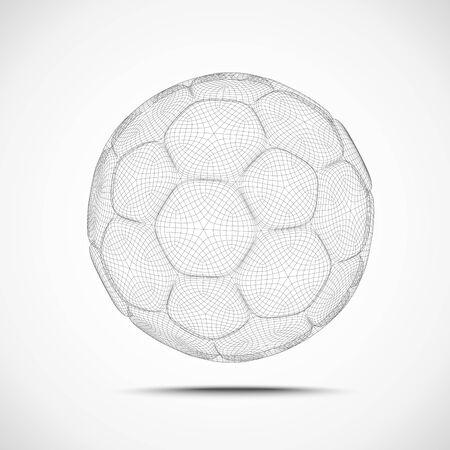 ballon foot: Résumé filaire Soccer Ball
