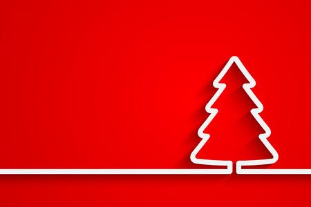 christmas postcard: Creative paper Christmas tree
