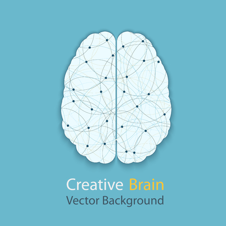 complexity: Creative brain vector background, illustration of the complexity of the process of human thinking Illustration