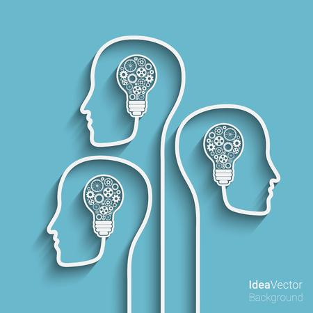 人間の頭は、新しいアイデアの背景を作成します。あなたの設計のための Eps10 ベクトル  イラスト・ベクター素材