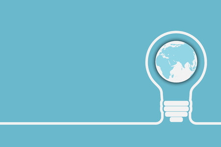 light bulb with a world globe. Conceptual illustration for your design