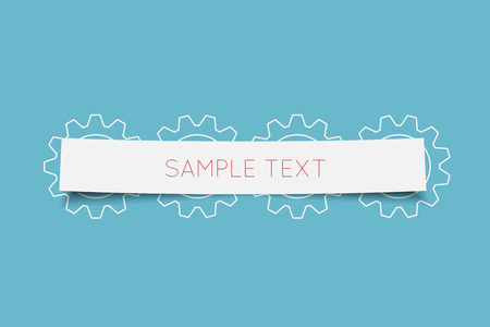 paper tag: Paper tag with gears, vector