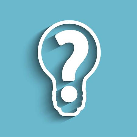 vraagteken in lamp stock vector