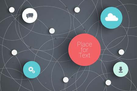 web technology: Vector abstract  infographic network template with place for your content
