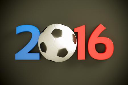 symbol sport: Neues Jahr 2016 und Fu�ball