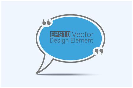 Zitat Textblase. Kommata, Notiz, Nachricht und Kommentar. Creative-Zitat. Zitat Vorlage für Ihr Design
