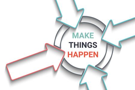 Flèches Creative concept de motivation. Banque d'images - 50951474