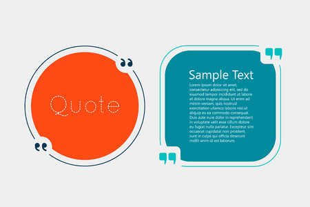 text bubble: Quote text bubble. Commas, note, message and comment. Creative quote.  Quote template for your design Illustration