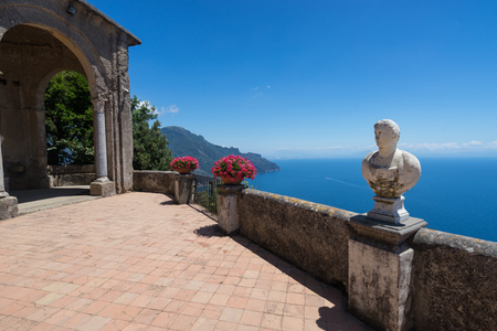 Creative view Villa Chimbrone. Ravello Amalfi Coast, Italy Stock Photo