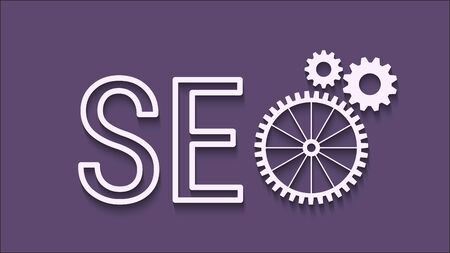 SEO abstract icon cogs gear. EPS10 vector for your background