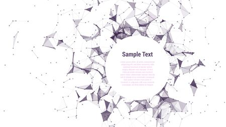 abstract backround: triangle mosaic vector background design