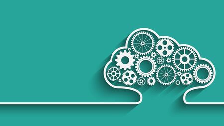 cloud computing gears Illustration