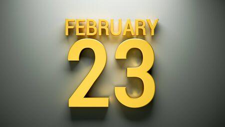 February Calendar back