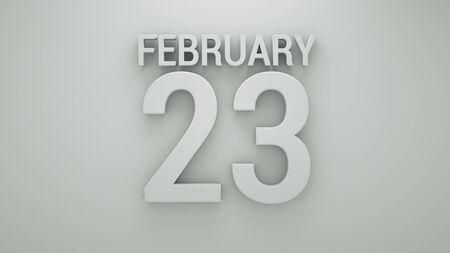 business meeting computer: February Calendar back