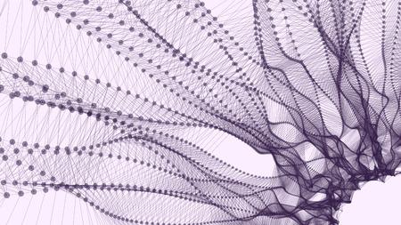 mesh: Wireframe polygonal landscape as a background for your design Illustration