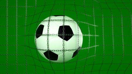3D illustration soccer ball