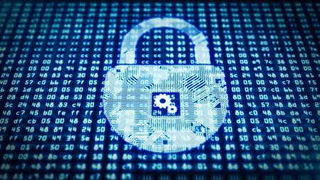 padlock circuit as a symbol of information protection