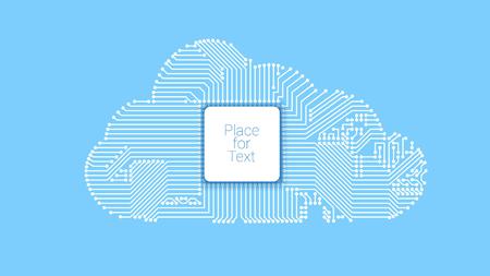 Circuit cloud computing Vector illustration. Illustration