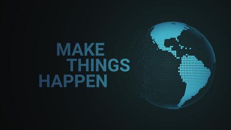 Abstract world destruction concept. Motivation worlds explode the world.