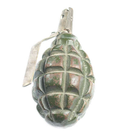 handgrenade: Isolated hand grenade