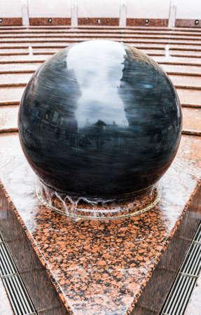 Fountain Bowl in Malaya Sadovaya street of St. Petersburg Stock Photo