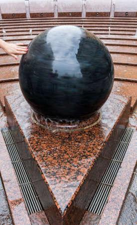 malaya: Fountain Bowl in Malaya Sadovaya street of St. Petersburg Stock Photo