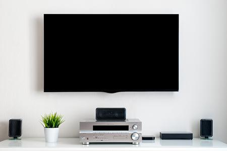 Casa inteligente. Centro multimedia para el hogar. Sin texto en la pantalla. Foto de archivo - 58462804