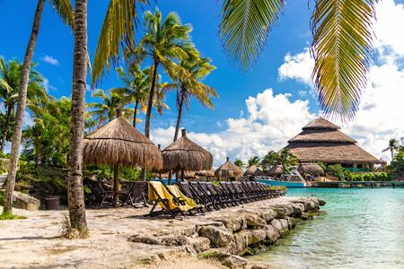 A wonderful relaxing vacation on the beautiful beach in Mexico